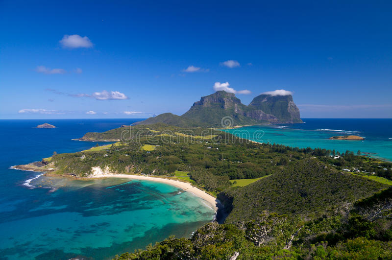 Mening over Lord Howe Island royalty-vrije stock foto