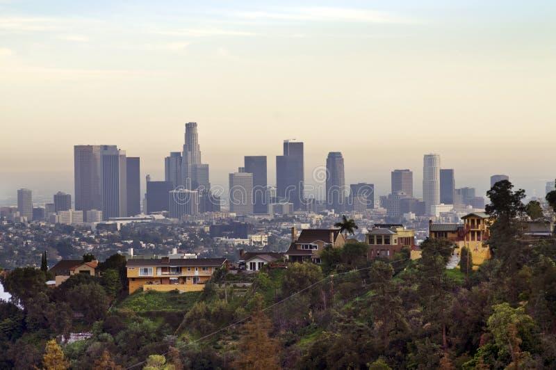 Mening over Los Angeles Van de binnenstad stock foto