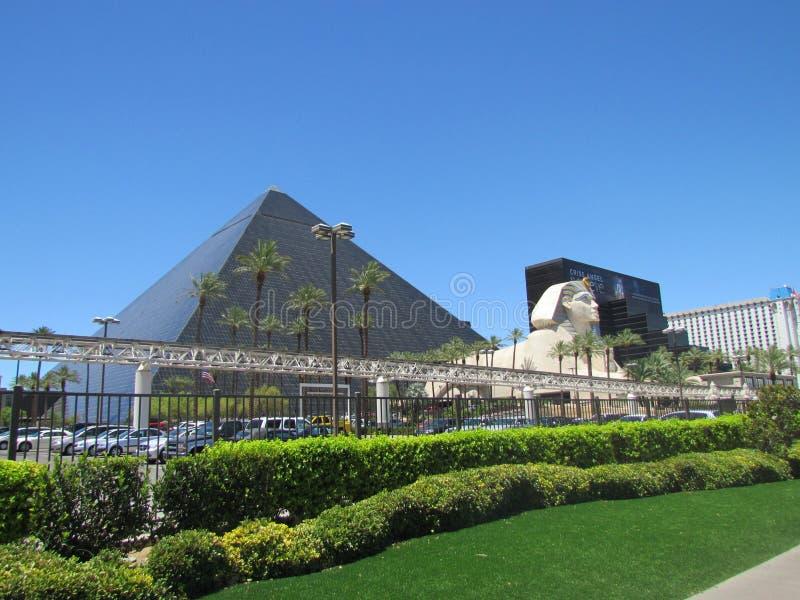 Mening over Luxor-Hotel Las Vegas royalty-vrije stock afbeelding