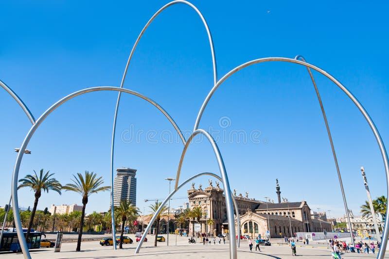 Mening over Maritiem Museum, Barcelona royalty-vrije stock foto