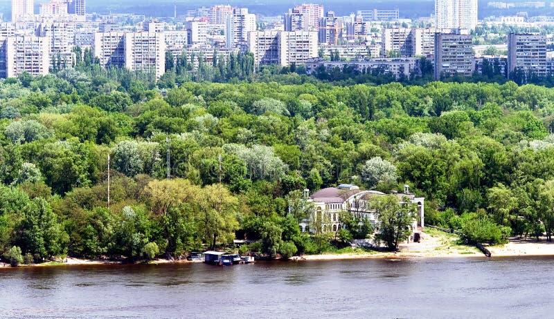 Mening over moderne architectuur Kyiv stock foto's