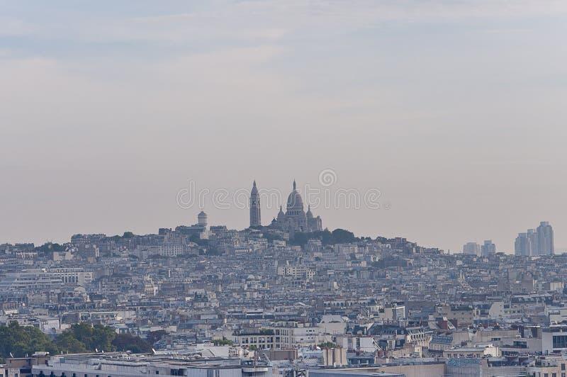 Mening over Montmartre. stock afbeelding