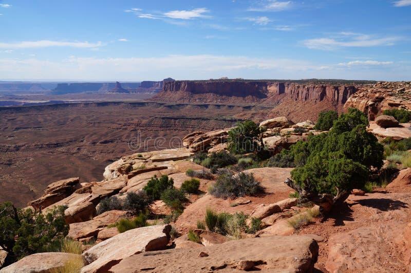 Mening over Murphy Range in Canyonlands NP royalty-vrije stock fotografie