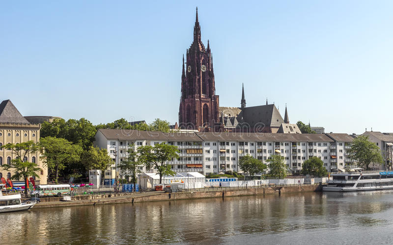 Mening over oud district van Frankfurt-am-Main, Duitsland royalty-vrije stock afbeeldingen