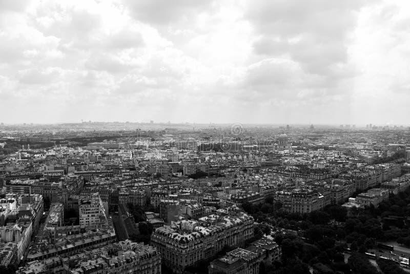 Mening over Parijs stock afbeeldingen
