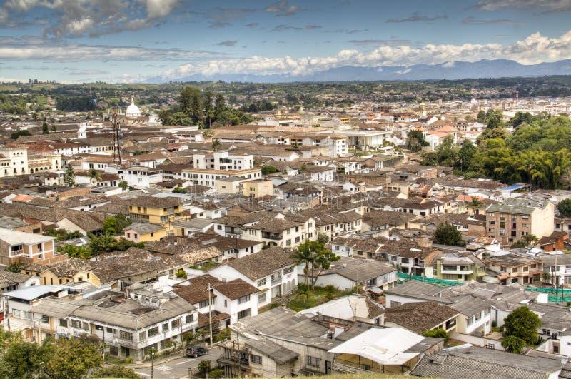 Mening over Popayan, Colombia royalty-vrije stock fotografie