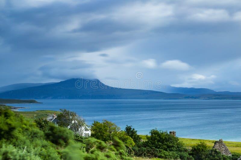 Mening over quinag in noordelijk Schotland royalty-vrije stock afbeeldingen