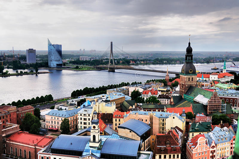 Mening over Riga stock fotografie