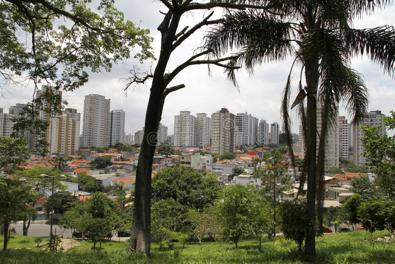 Mening over Sao Paulo royalty-vrije stock fotografie