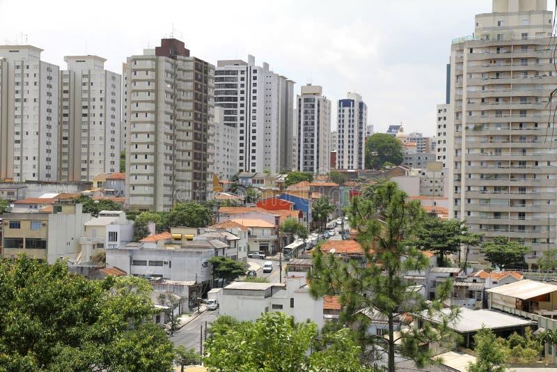 Mening over Sao Paulo stock foto's