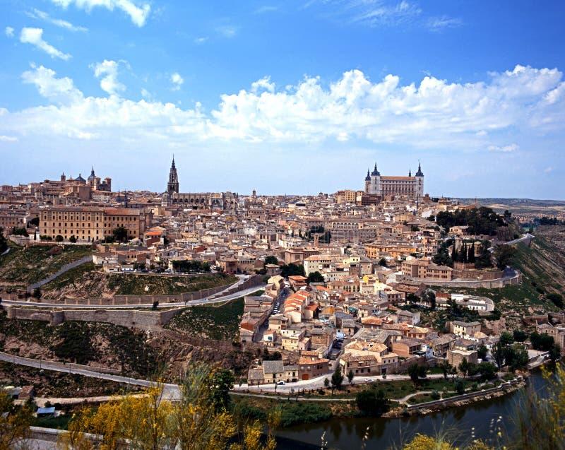Mening over stad, Toledo, Spanje. stock foto