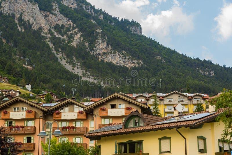 Mening over traditioneel Italiaans dorp royalty-vrije stock fotografie