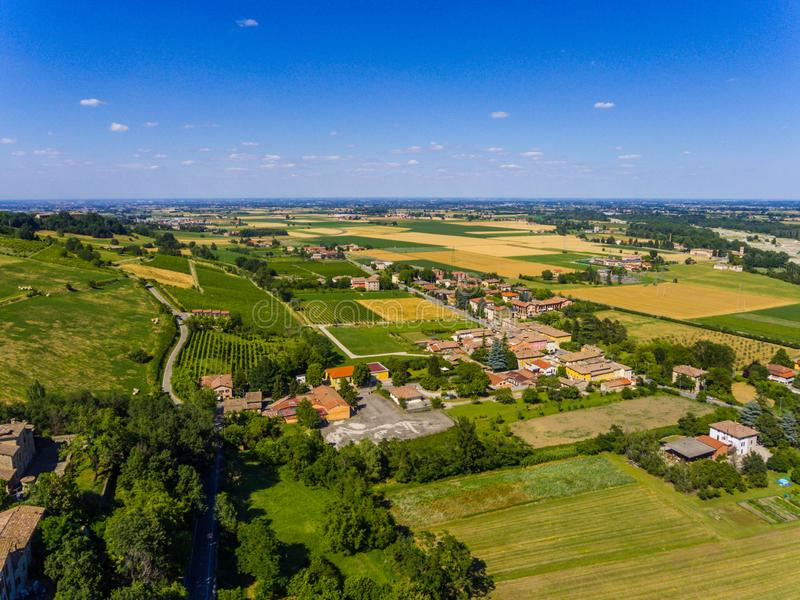Mening over traditioneel Italiaans dorp royalty-vrije stock afbeeldingen