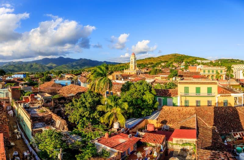 Mening over Trinidad, Cuba stock foto