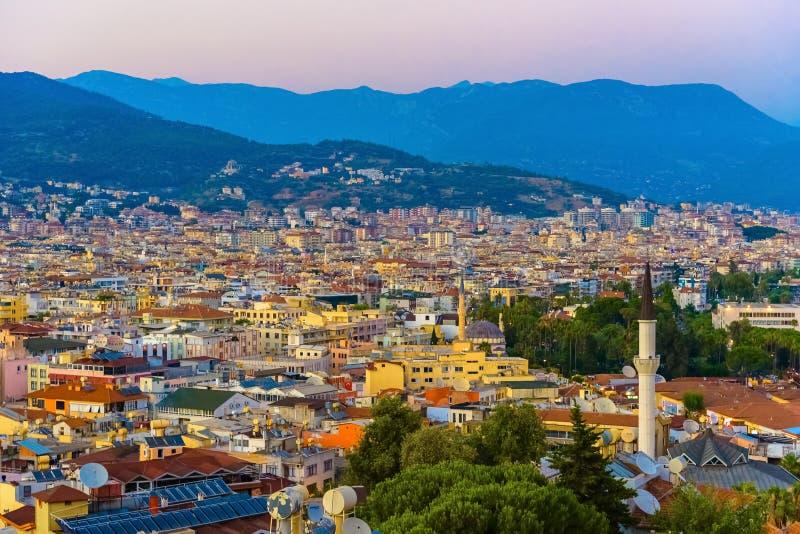 Mening van Alanya-cityscape stock afbeelding