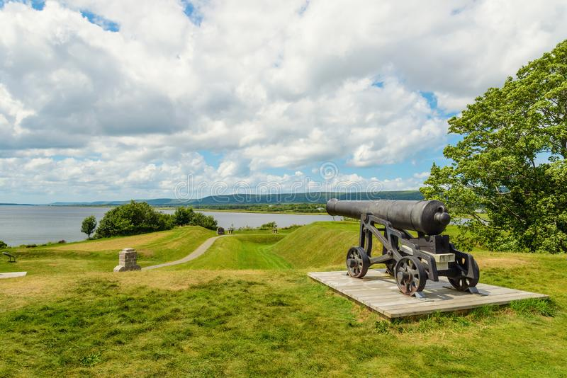 Mening van Annapolis-Bassin van Fort Anne stock foto's