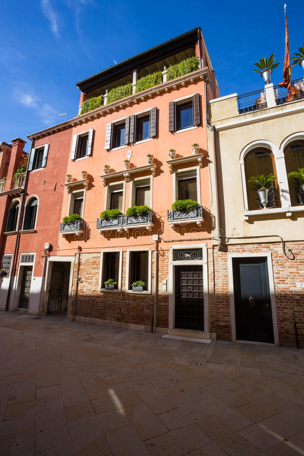 Mening van architectuur van Venetië Italië royalty-vrije stock afbeelding