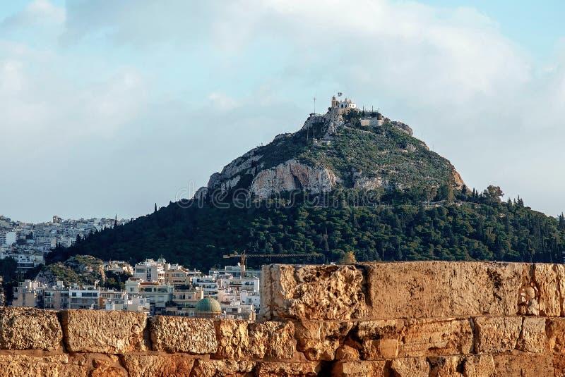 Mening van Athene, Griekenland royalty-vrije stock afbeelding