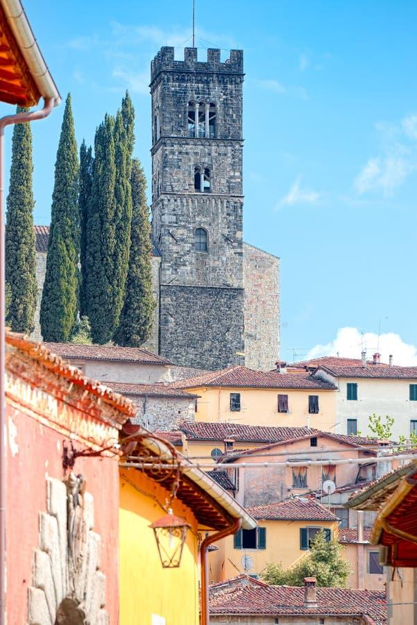 Mening van Barga, Luca, Toscanië royalty-vrije stock foto