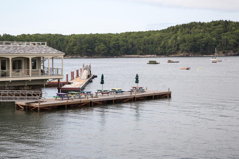 Mening van Barhaven in Maine de V.S. stock afbeeldingen