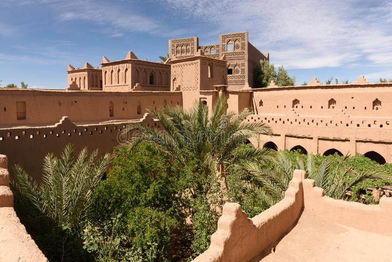 Mening van beautifulKasbah Amridil, Marokko royalty-vrije stock foto