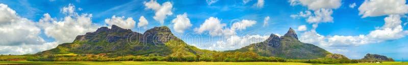 Mening van Bergen mauritius Panorama stock afbeeldingen