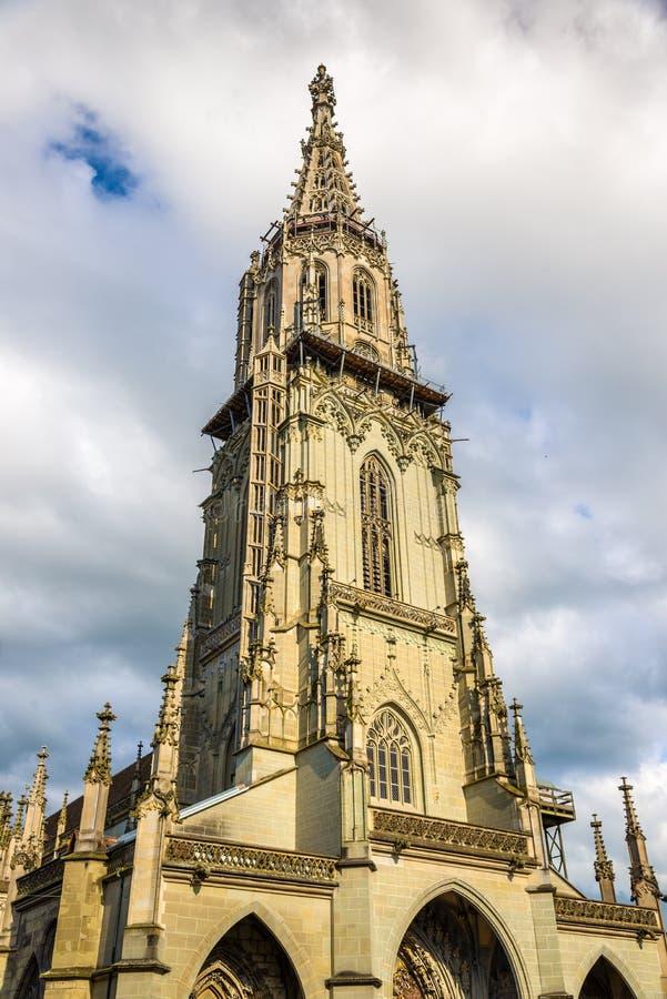 Mening van Bern Minster royalty-vrije stock foto's