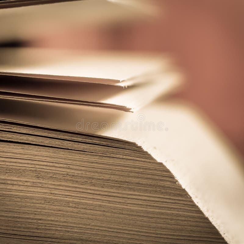 Mening van boekpagina's royalty-vrije stock foto's