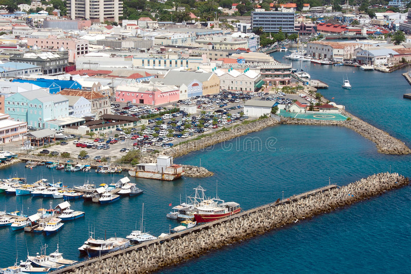 Mening van Bridgetown (Barbados) stock afbeelding