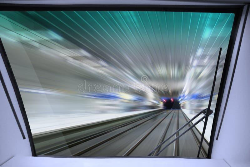 Mening van cabine van trein stock foto's