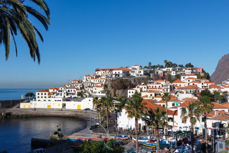 Mening van Camara de Lobos royalty-vrije stock foto's