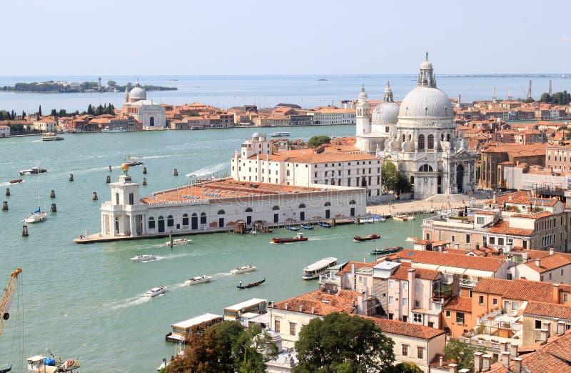 Mening van Campanile in Venetië aan zuiden, Italië royalty-vrije stock foto