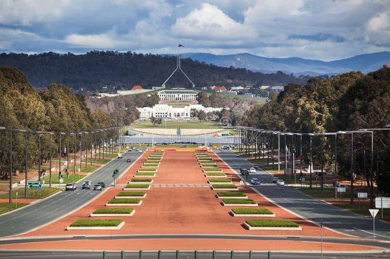 Mening van Canberra stock afbeeldingen
