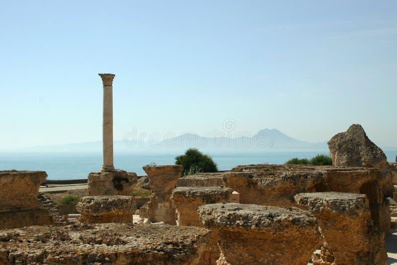 Mening van Carthago stock afbeeldingen
