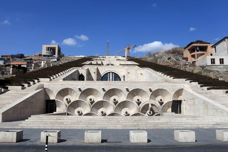 Mening van Cascade in Yerevan royalty-vrije stock foto's