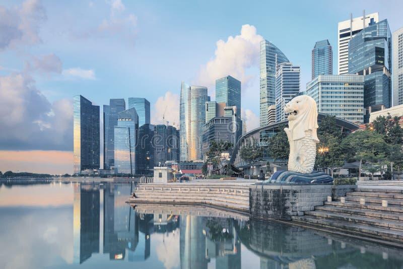 Mening van centraal Singapore royalty-vrije stock afbeelding