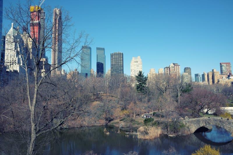 Mening van Central Park in de Stad van New York royalty-vrije stock foto