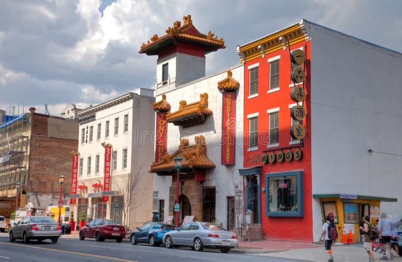 Mening van chinatown stock foto's