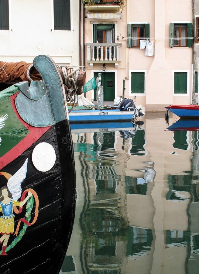 Mening van Chioggia-stad in Italië royalty-vrije stock afbeelding