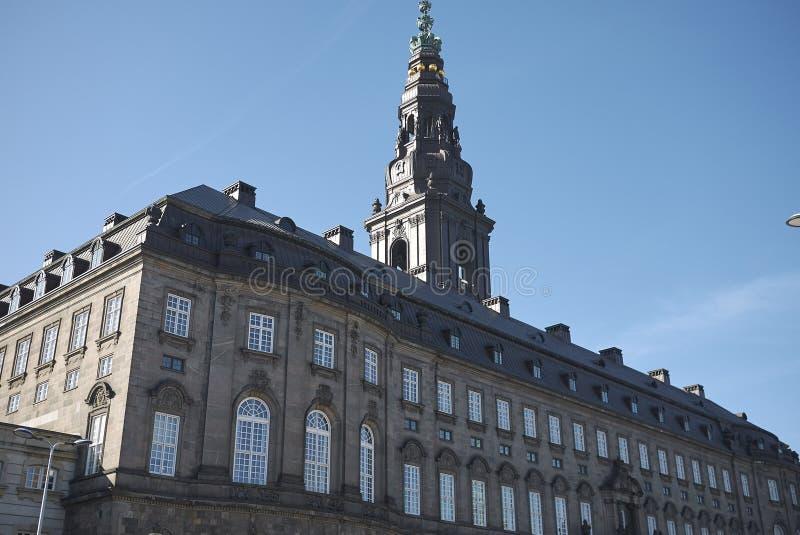 Mening van Christiansborg-Paleis royalty-vrije stock foto