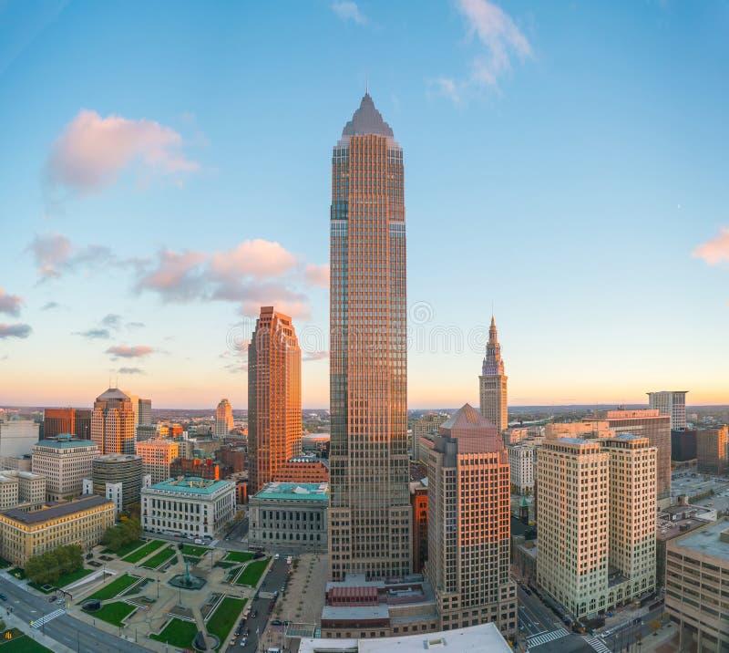 Mening van Cleveland van de binnenstad stock foto's