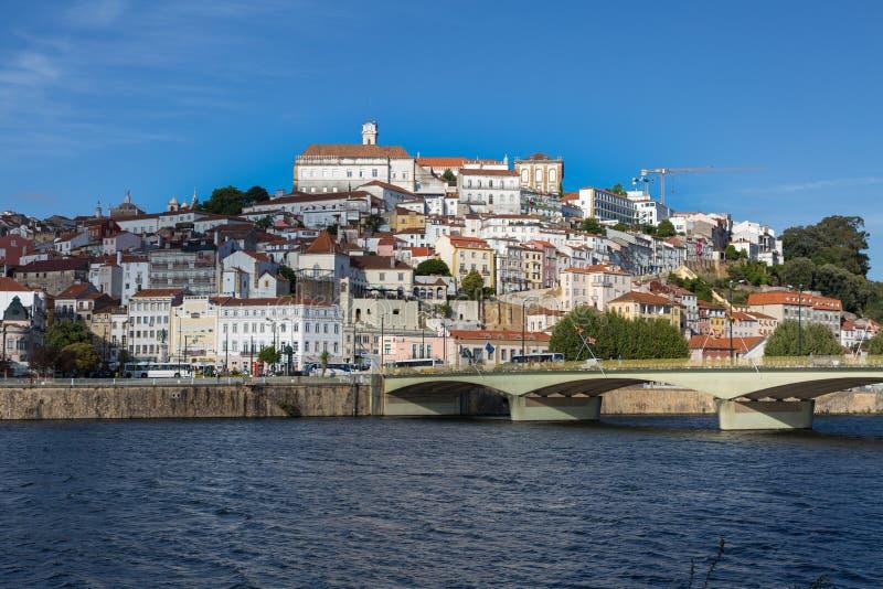 Mening van Coimbra, Oude Stad in Portugal royalty-vrije stock afbeelding