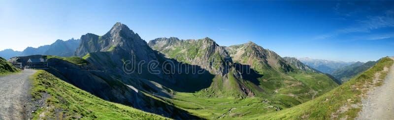 Mening van Col. du Tourmalet in de bergen van de Pyreneeën royalty-vrije stock afbeelding