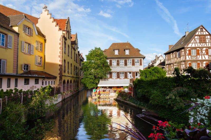 Mening van Colmar, de Elzas, Frankrijk stock foto's