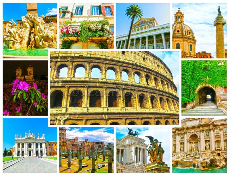 Mening van Colosseum in Rome en ochtendzon, Italië royalty-vrije stock afbeeldingen