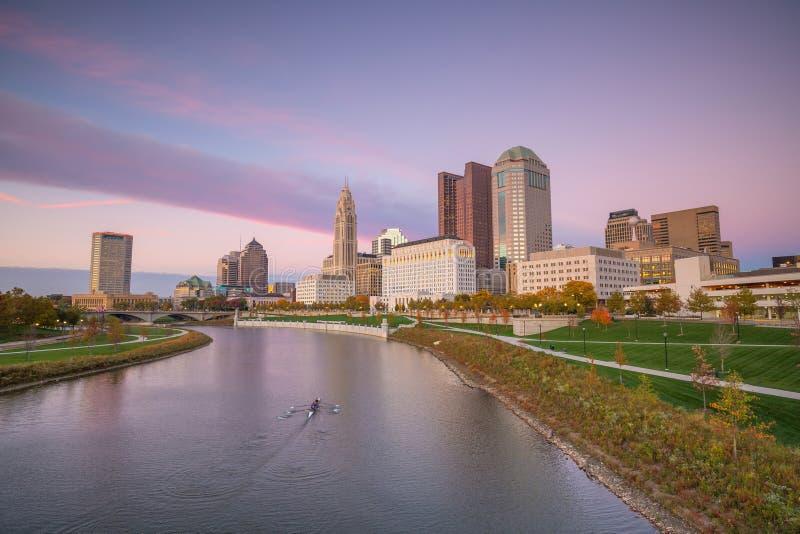 Mening van Columbus Ohio Skyline van de binnenstad stock fotografie