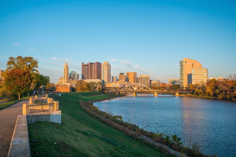 Mening van Columbus Ohio van de binnenstad royalty-vrije stock foto