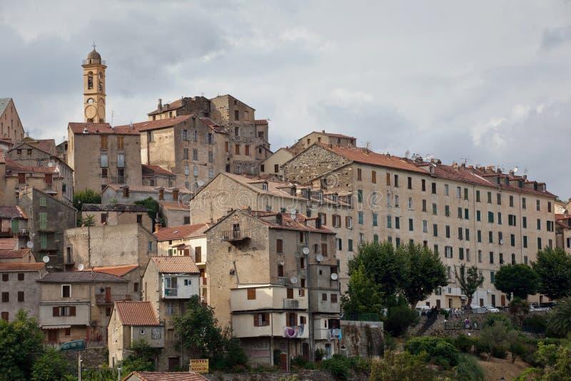 Mening van Corte, Corsica royalty-vrije stock foto's