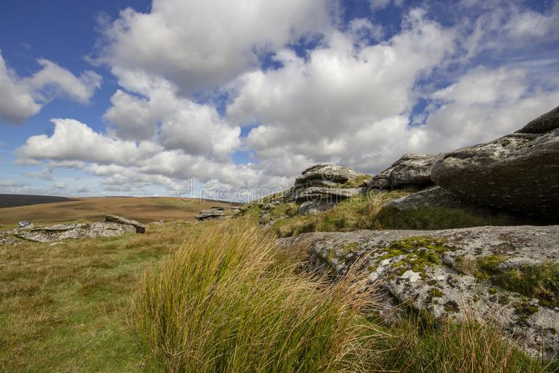 Mening van Dartmoor van Ruwe Piek stock afbeelding