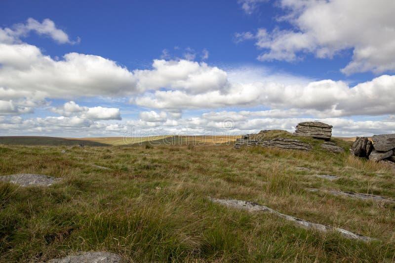 Mening van Dartmoor van Ruwe Piek royalty-vrije stock afbeelding